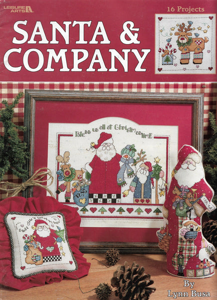 Leisure Arts Santa & Company christmas cross sticth pattern book