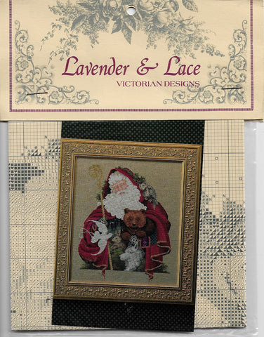 Lavender & Lace Santa of the Forest L&L21 Christmas cross stitch pattern