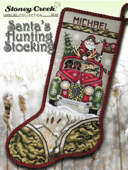 Stoney Creek Santa's Hunting Stocking LFT266 christmas cross stitch pattern