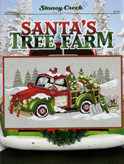 Stoney Creek Santas Tree Farm LFT451 cross stitch pattern