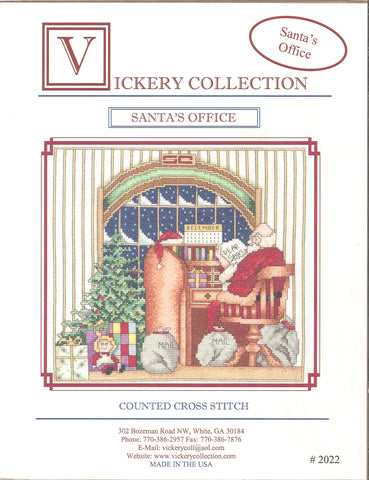 Vickery Collection Santa's Office 2022 christmas cross stitch pattern