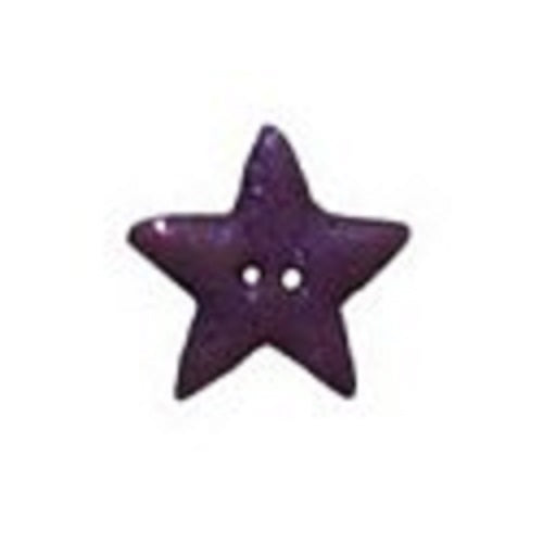 Stoney Creek Purple Glitter Star, Medium SB062PM button