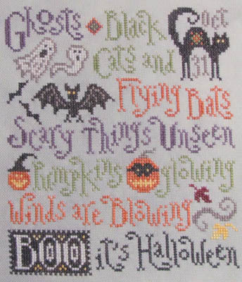 Silver Creek SamplersScary Things October Brings Halloween cross stitch pattern