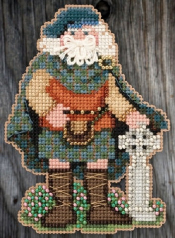 Mill Hill Scotland Santa 20-5301 beaded cross stitch kit