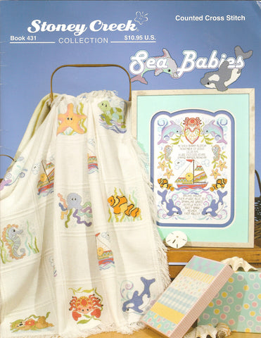 stoney creek sea babies cross stitch pattern booklet