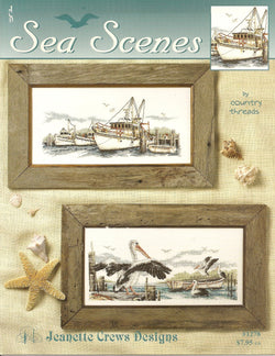 Jeanette Crews Sea Scapes cross stitch pattern booklet