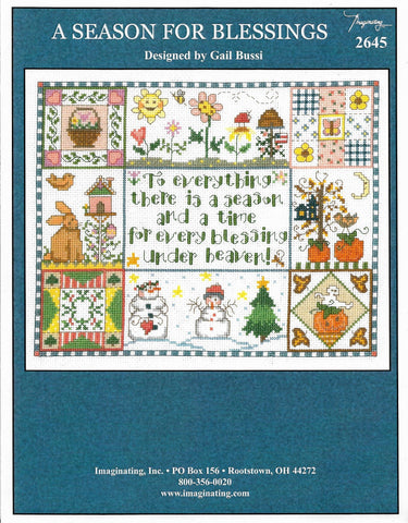 Imaginating A Season for blessings 2645 cross stitch pattern