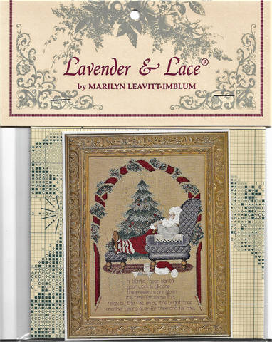 Lavender & Lace Secret Santa L&L54 Christmas cross stitch pattern
