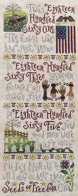 Silver Creek Samplers Seed's of Freedom cross stitch pattern
