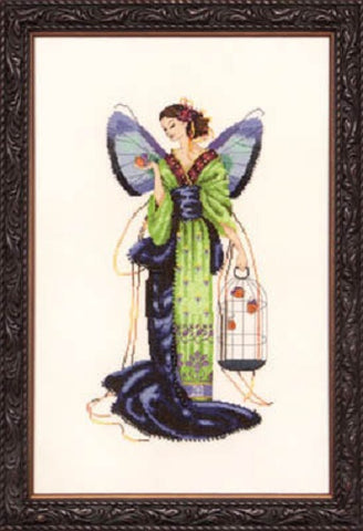 Mirabilia September Sapphire Fairy Nora Corbett MD-114 cross stitch pattern