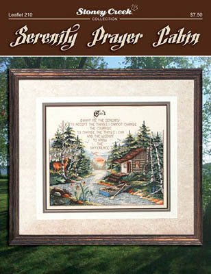 Stoney Creek Serenity prayer LFT210 cross stitch pattern