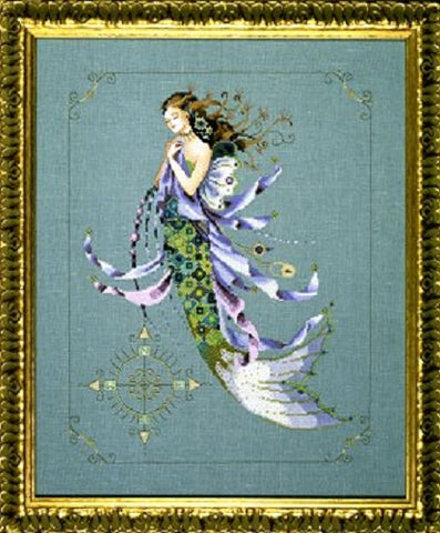 Mirabilia Shimmering Mermaid MD-71 Victorian cross stitch