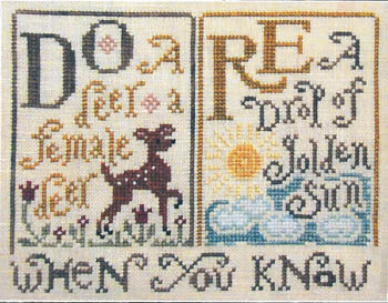 Silver Creek Samplers Sing A Song Sampler #1 Do Re cross stitch pattern
