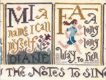 Silver Creek Sing a Sampler part 2 Mi Fa cross stitch pattern