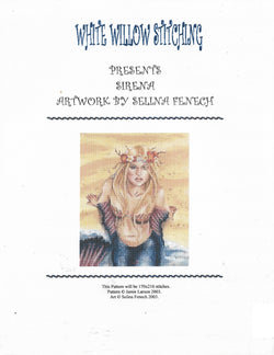 White Willow Sirena Mermaid cross stitch pattern