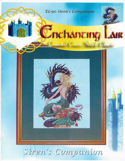 Enchanting Lair Siren's Companion Mermaid fantasy cross stitch pattern