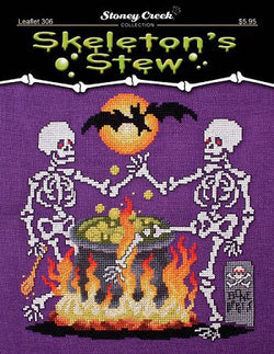 Stoney Creek Skeleton Stew LFT306 halloween cross stitch bible pattern
