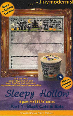 Tiny Modernist Sleepy Hollow Part 1 Mystery Sampler cross stitch pattern