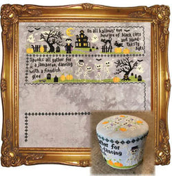 Tiny Modernist Sleepy Hollow part 2 mystery sampler cross stitch pattern