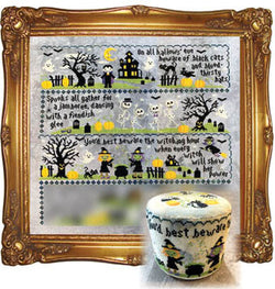 Tiny Modernist Sleepy Hollow part 3 mystery sampler cross stitch pattern