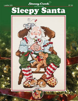 Stoney Creek Sleepy Santa LFT225 cross stitch booklet