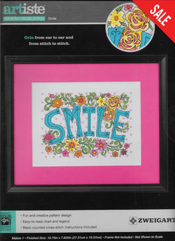 Artiste Smile cross stitch kit