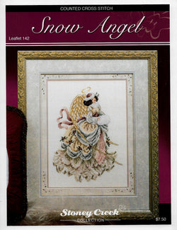 Stoney Creek Snow Angel LFT142 Christmas cross stitch pattern