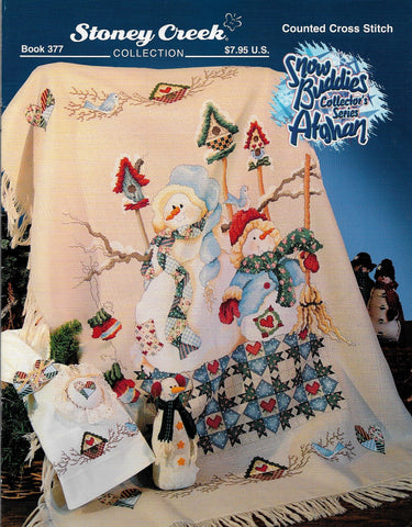 Stoney Creek Snow Buddies Afghan collector's series BK377 cross stitch pattern