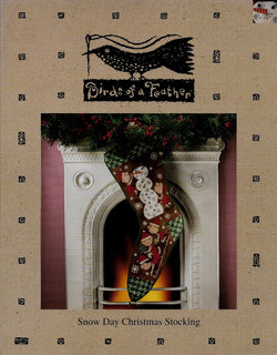 Birds of a Feather Snow Days Christmas Stocking cross stitch pattern