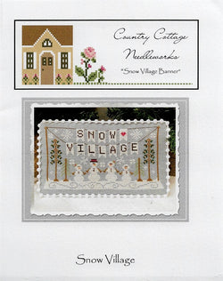 Country Cottage Needleworks Snow Village Banner Christmas Winter cross stitch pattern