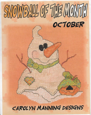 Carolyn Manning Snowball of the month cross stitch pattern