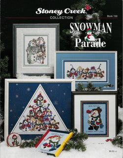 Stoney Creek Snowman Parade BK159 Christmas cross stitch pattern