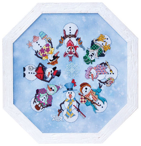 Glendo Place Snowman ala round GP197 christmas cross stitch pattern