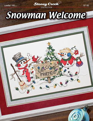 Stoney Creek Snowman Welcome LFT185 cross stitch pattern