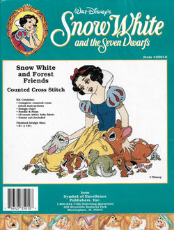 Symbol of Excellence Snow White & Forest Friends disney cross stitch kit