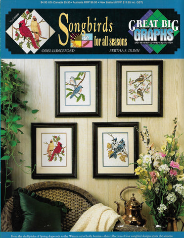 Great Big Graphics Songbirds for all Seasons cross stitch pattern