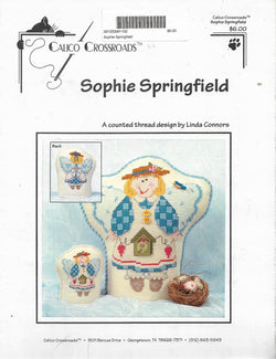 Calico Crossroads Sophie Springfield cross stitch pattern