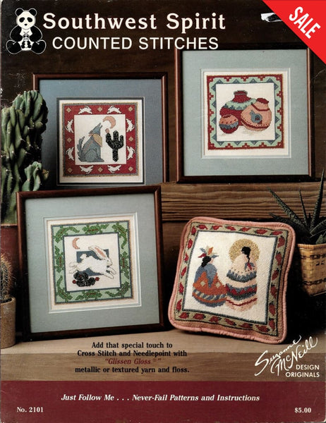 Design Originals Southwest Spirit 2101 native american cross stitch pattern