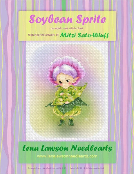 Lena Lawson Soybean Sprite cross stitch pattern