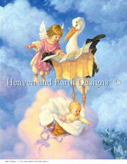 Heaven and Earth Designs Special Delivery Scott Gustafson cross stitch pattern
