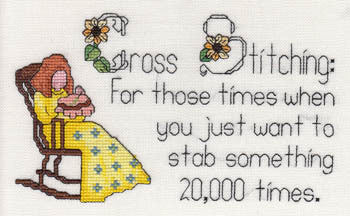 MarNic Designs For those times when you just want to stab something 20,000 times cross stitch pattern