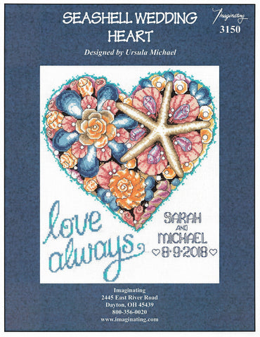 Imaginating Starfish Wedding 3150 cross stitch pattern