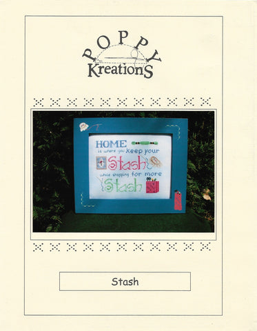 Poppy Creations Stash cross stitch pattern