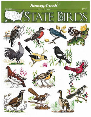 Stoney Creek State Birds BK521 cross stitch booklet