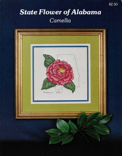 Ada-Lee State flower of Alabama Camellia cross stitch pattern