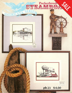 Puckerbrush Steamboats cross stitch pattern