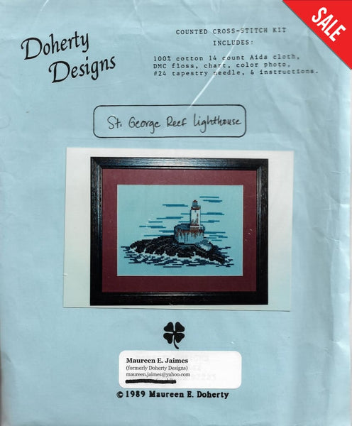 Doherty Designs St. George Reef Lighthouse cross stitch kit