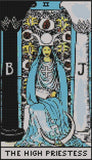 Austin Thread Crafts The High Priestess Tarot Card cross stitch pattern