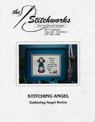 Stitchworks Stitching Angel cross stitch pattern