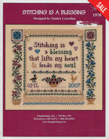 Imaginating Stitching is a Blessing 1970 cross stitch pattern